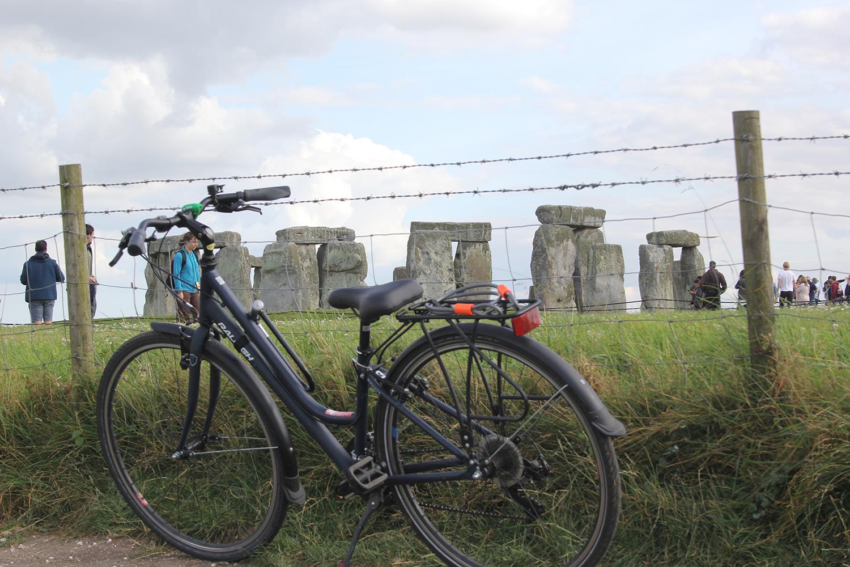 Stonehenge, on a bicycle